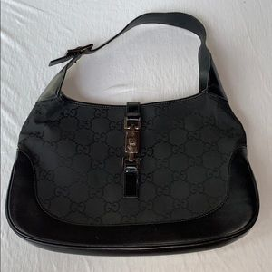GUCCI Vintage Black Nylon Shoulder Bag